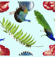 tropical pattern with exotic nature decoration vector image