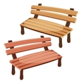 Two isolated wooden benches for decoration vector image