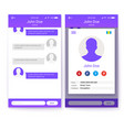 ui concept mobile app gui design vector image vector image