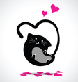 valentine cat vector image vector image
