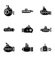 water craft icons set simple style vector image vector image