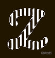 z letter formed parallel lines a letter made vector image