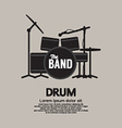 Drum Set Music Instrument vector image