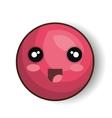emoji smiling open mouth design vector image