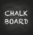 empty black chalkboard vector image