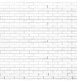 white brick wall texture vector image