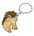 cartoon horse head with thought bubble vector image