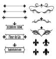 Set of calligraphic flourish design elements vector image