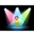 A boy crying at the stage vector image vector image
