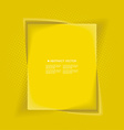 Abstract background with yellow box frame banner vector image vector image
