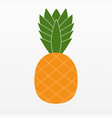 ananas pineapple icon isolated on background mode vector image vector image