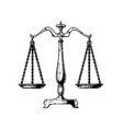 balance scale vector image vector image