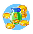 banking with money items business vector image