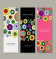 banners design abstract circles vector image