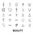 beauty spa wellnesss hair salon comsetics vector image