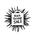 black friday in the form of a star drawn in the vector image vector image