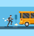 businessman late for work or a meeting vector image vector image