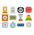 clock and watches timer colorful vector image vector image