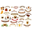 Coffee shop and cafe retro design elements vector image vector image