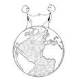 conceptual cartoon international business vector image