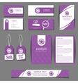 Corporate identity templates set with vector image vector image