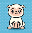 cute and lovely sheep cartoon vector image vector image