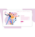 dance classes online web page template ballroom vector image vector image