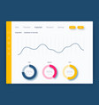 dashboard infographic template with modern ui vector image vector image