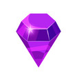 diamond sparkling shining purple color isolated vector image