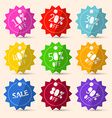 Discount Paper Colorful Labels Sale Set vector image