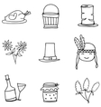 Doodle of object thanksgiving hand draw vector image vector image