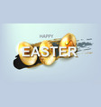 easter composition with silhouette of three eggs vector image vector image