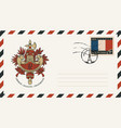 envelope with french coat arms vector image vector image