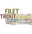 filet trout filet fish no bones no skin text vector image vector image