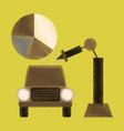 flat shading style icon automotive industry vector image