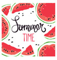 Funny summer hand drawing calligraphy vector image vector image