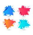 geometric triangle colorful abstract shapes vector image vector image