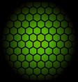 green hexagon honeycomb pattern design vector image vector image