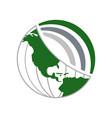 green world global network vector image