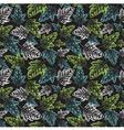 Grunge leaves pattern vector image