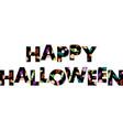 halloween candy pattern alphabet vector image vector image