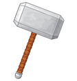 hammer of thor vector image vector image