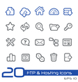 Hosting Icons Outline Series vector image vector image