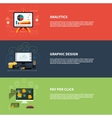 Icons for web design analytics graphic design and vector image