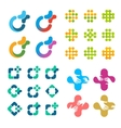 Isolated abstract logo set Medical cross