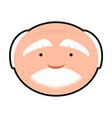 isolated grandfather avatar vector image vector image