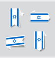 israeli flag stickers and labels vector image