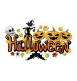 label for halloween vector image