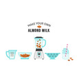 make your own almond milk poster vector image