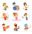 men and women of different professions set people vector image vector image